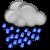 Muy nuboso con lluvias